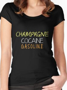 P!ATD/Music - Champagne Cocaine Gasoline Women's Fitted Scoop T-Shirt