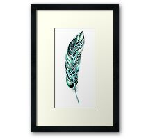 Tribal Feather Illustration Framed Print