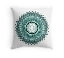 Tribal Feather Mandala Throw Pillow