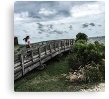 Beauty and the boardwalk Canvas Print