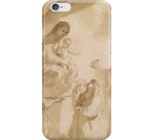 Giovanni Francesco Barbieri, called Il Guercino, The Virgin of the Rosary iPhone Case/Skin