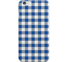 Gingham white and blue iPhone Case/Skin