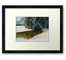 """Tidal Creek, Dunk Island"" Framed Print"