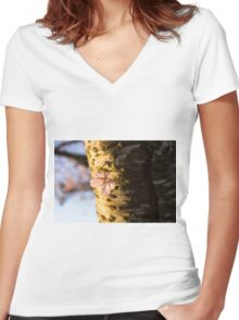 Petals and Scars Women's Fitted V-Neck T-Shirt