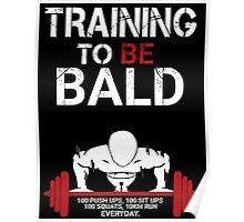 One Punch Man Saitama Training to go bald Cosplay Japan Anime T Shirt Poster