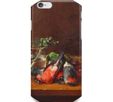 HENRIK THEODOR LUNDH, STILL LIFE WITH BULLFINCHES iPhone Case/Skin