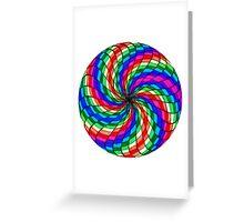 Rainbow Vortex Greeting Card