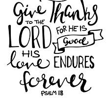 Give Thanks To The Lord by Katie Thomas