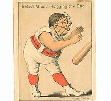 "Vintage Baseball Card ""A Close Affair"" by reddkaiman"