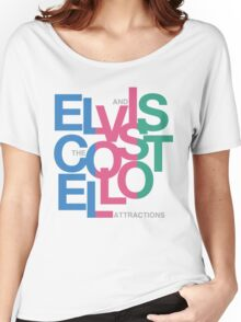 Elvis Costello (Black) Women's Relaxed Fit T-Shirt