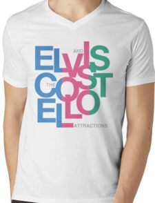 Elvis Costello (Black) Mens V-Neck T-Shirt