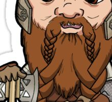 Lord of the Rings - Gimli the Dwarf with Axe Sticker