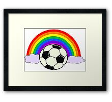 Coloured Team Framed Print
