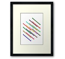 Isometric composition 1 Framed Print