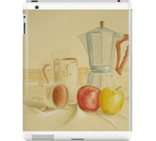 Still life with coffee cups and apples iPad Case/Skin