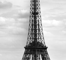 Eiffel Tower BLACK AND WHITE Sticker