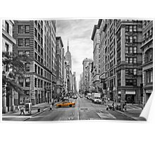 5th Avenue Yellow Cab - NYC Poster