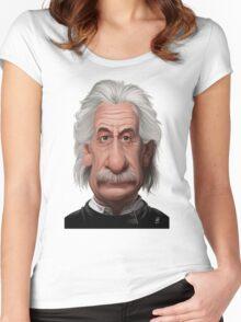 Celebrity Sunday - Albert Einstein Women's Fitted Scoop T-Shirt