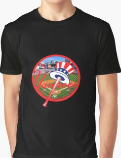 New York Yankees Stadium Logo Graphic T-Shirt