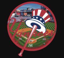New York Yankees Stadium Logo Baby Tee