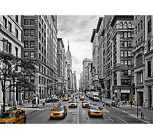 5th Avenue Yellow Cabs - NYC Photographic Print