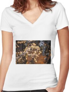 Sakura Brick Women's Fitted V-Neck T-Shirt