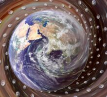 Digitally enhanced image of the Earth. Sticker