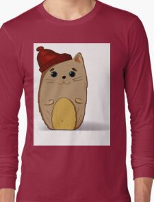 Cat in the red cap Long Sleeve T-Shirt
