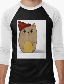 Cat in the red cap Men's Baseball ¾ T-Shirt