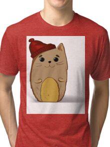 Cat in the red cap Tri-blend T-Shirt