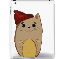 Cat in the red cap iPad Case/Skin
