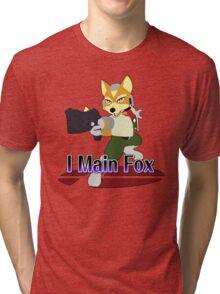 I Main Fox - Super Smash Bros Melee Tri-blend T-Shirt