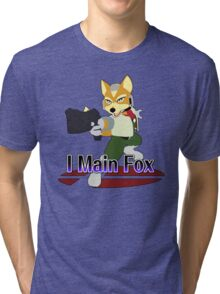 I Main Fox - Super Smash Bros Melee Tri-blend T-Shirt