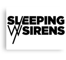 Sleeping With Sirens Logo by omans Canvas Print
