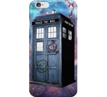 tardis police box galaxy iPhone Case/Skin