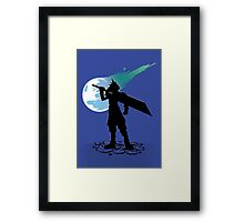 Cloud and the Meteor - Final Fantasy VII Framed Print