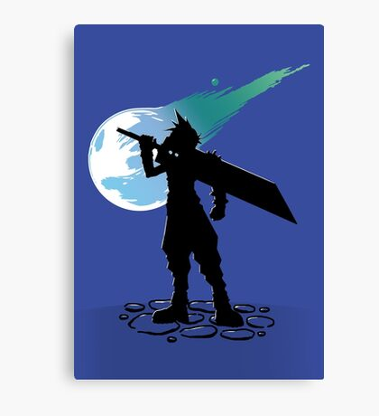 Cloud and the Meteor - Final Fantasy VII Canvas Print