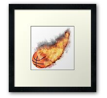 Flaming Basketball Framed Print