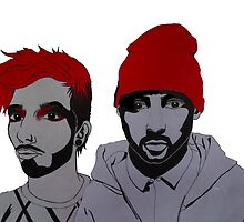 twenty one pilots drawing by sannescholte