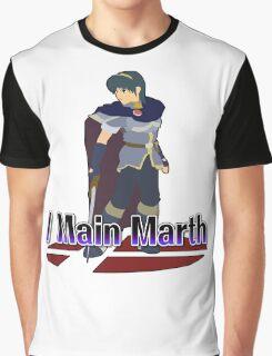 I Main Marth - Super Smash Bros Melee Graphic T-Shirt