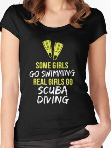 Real Girl Go Scuba Diving Women's Fitted Scoop T-Shirt