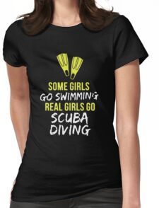 Real Girl Go Scuba Diving Womens Fitted T-Shirt