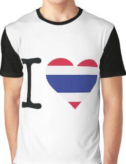 I Love Thailand Graphic T-Shirt