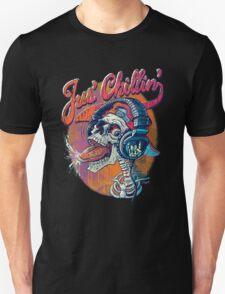 Just Chillin' Rock On Skull T-Shirt
