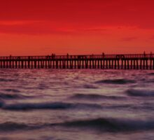 Sunset at Naples Pier Sticker