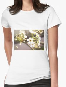 White Spring I Womens Fitted T-Shirt