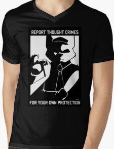 Report Thought Crimes Mens V-Neck T-Shirt