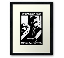 Report Thought Crimes Framed Print