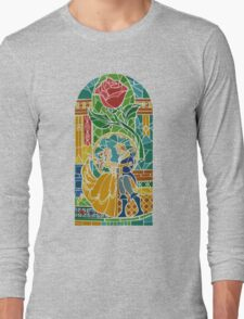 Beauty and The Beast - Stained Glass Long Sleeve T-Shirt