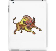 Raging Bull Charging Drawing iPad Case/Skin